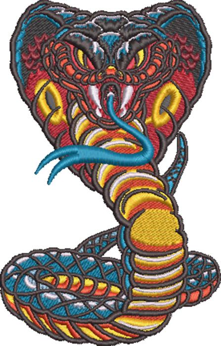 cobra mascot embroidery design