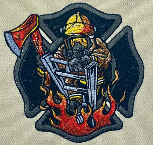 Firefighter embroidery design