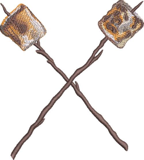 roasted marshmellos embroidery design