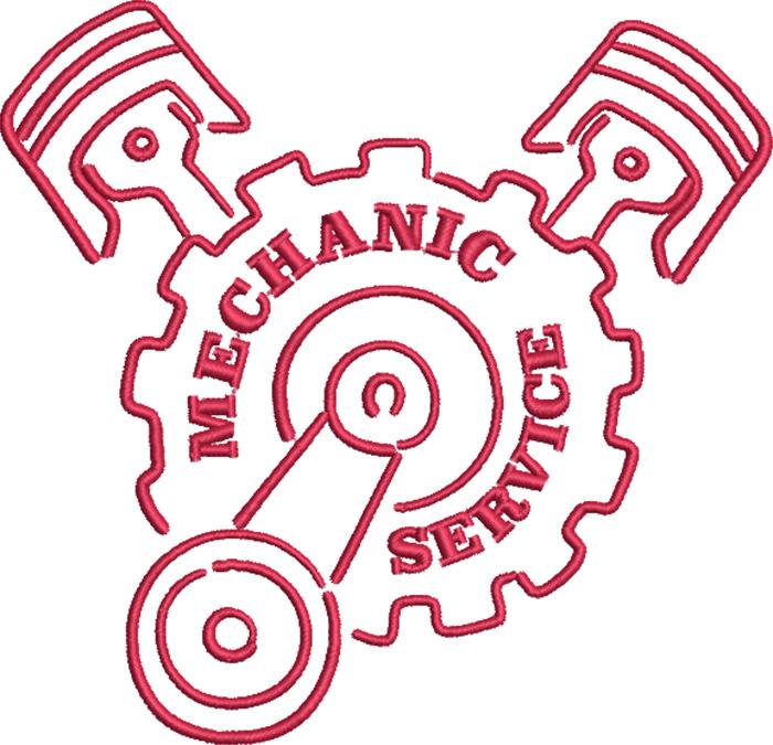 mechanic embroidery design