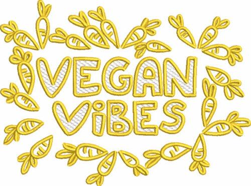 vegan vibes embroidery designs