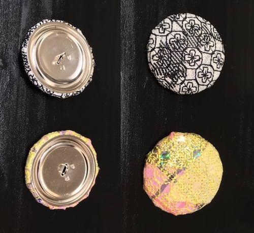 buttons from embroidery scraps