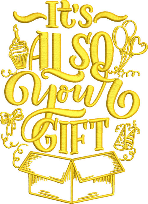 also your gift embroidery design
