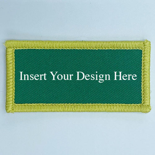 Rectangular Embroidery Patch Design 2