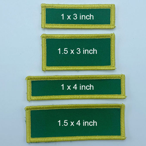DIY rectangles 2 patches stack