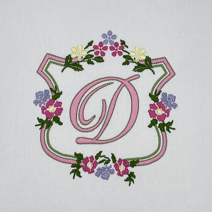 Hatch Personalized Project: Floral Monogram 4