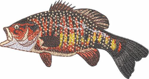 smallmouth leap embroidery design