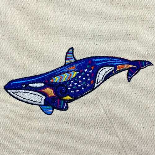 graphic orca embroidery design