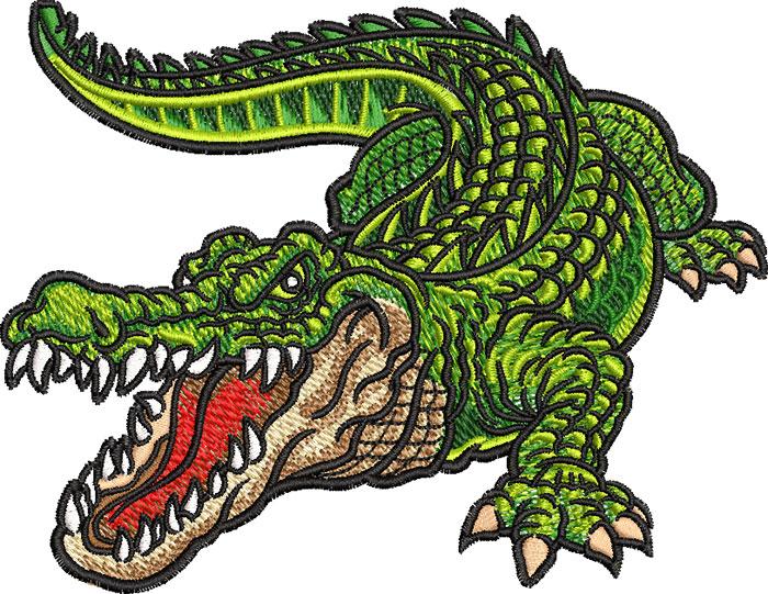 mean gator embroidery design