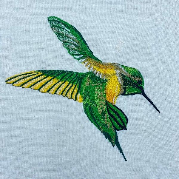 free hummingbird embroidery design