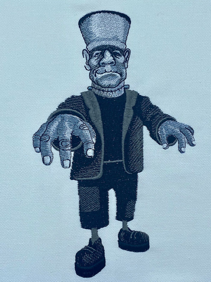 Halloween Gang Frankie embroidery design
