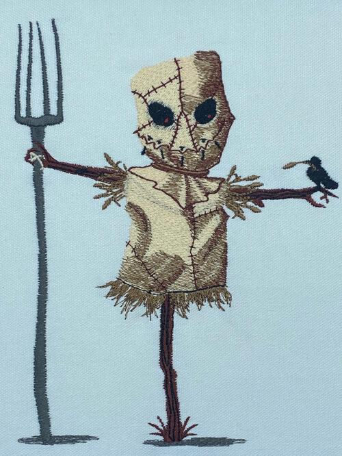 Halloween Gang Scarecrow embroidery design