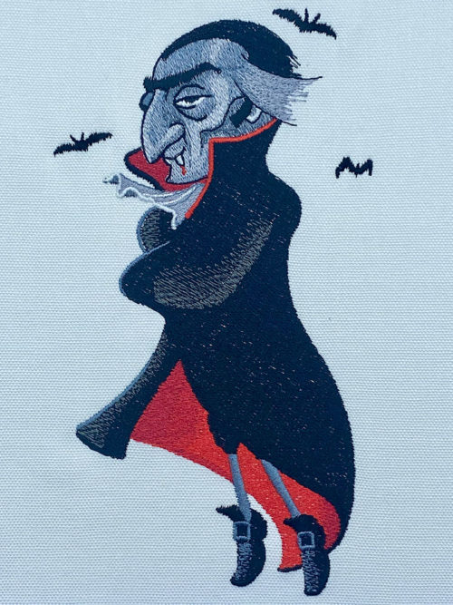 Halloween Gang Vampire embroidery design