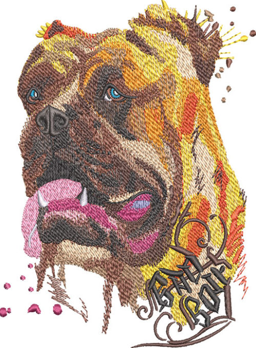 can carso dog embroidery design