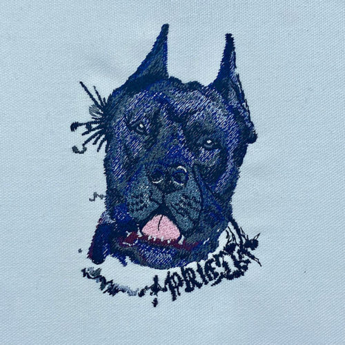 dog buddies embroidery design