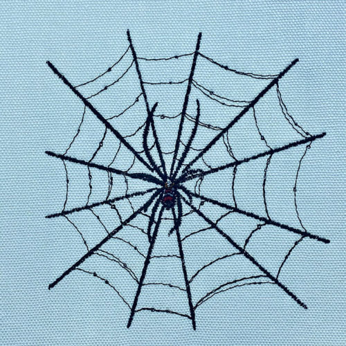 spider web embroidery design