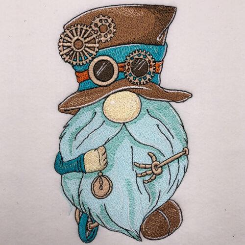 Steampunk Gnome embroidery design